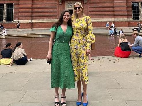 Ivanka Trump visited the Victoria and Albert Museum in London ahead of the state visit. Picture: Instagram.