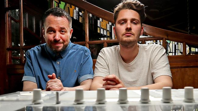 Abandoman, Rob Broderick and Sam Wilson, are a hip hop band performing at the Spiegeltent. Picture: Tim Carrafa