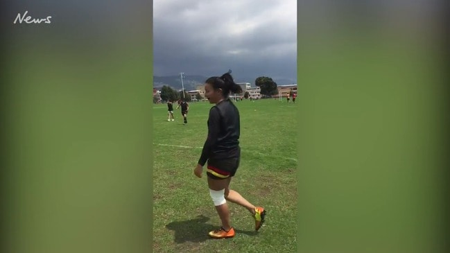 The historic first AFLW goal scored in Colombia
