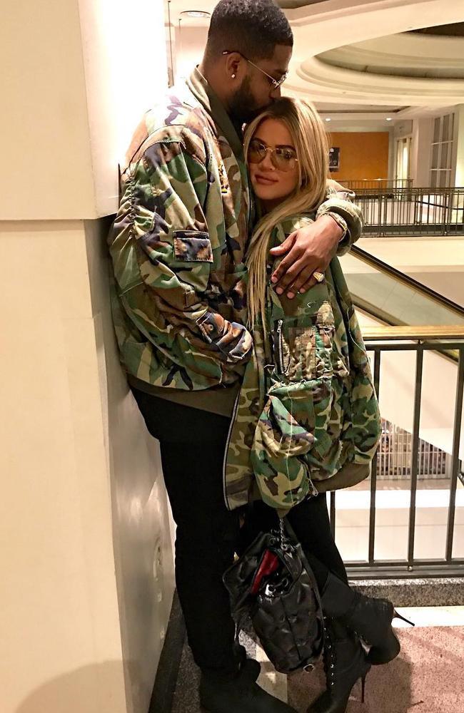 Khloe Kardashian and Tristan Thompson. Picture: Instagram