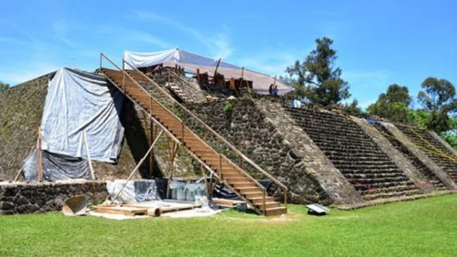 The pyramid was damaged. Picture: National Institute of Anthropology and History