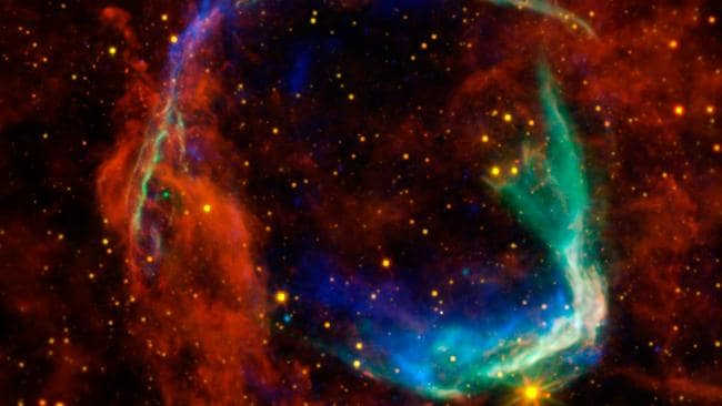 NASA said this nebula is the oldest example of a supernova that's been photographed. The supernova is thought to have first been observed by Chinese astronomers in 185 A.D. Picture: AFP PHOTO/NASA