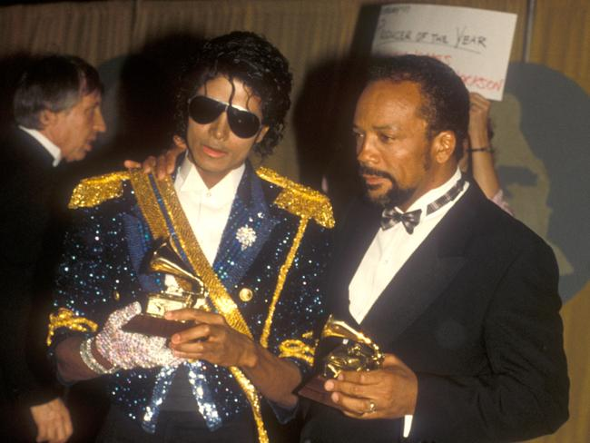 Jackson's relatives believe the feud with Quincy Jones goes back to the 1982 Grammy Awards. Picture: Barry King/WireImage