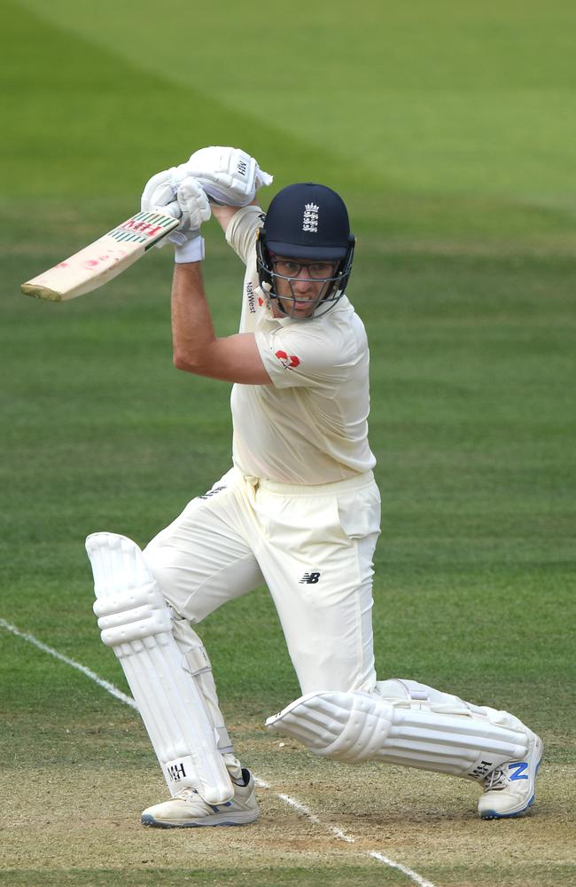 England batsman Jack Leach. (Photo by Stu Forster/Getty Images)