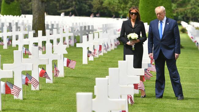 The Trumps' visit to Normandy has raised eyebrows. Picture: Mandel Ngan/AFP