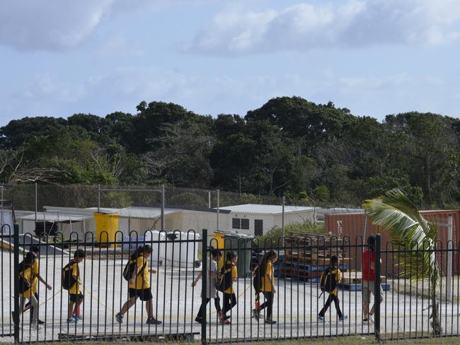 Asylum seeker children on Christmas Island.