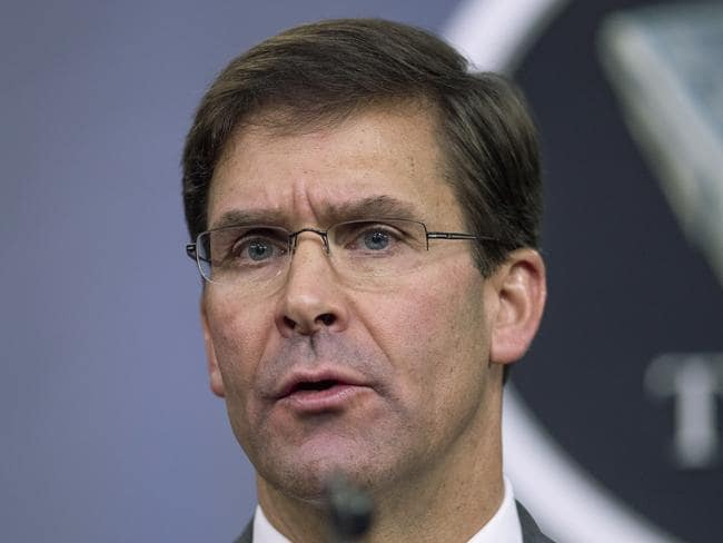 Secretary of Defense Mark Esper. Picture: AP/Manuel Balce Ceneta