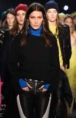 Bella Hadid walks the runway at the Zagdig Voltaire fashion show during New York Fashion Week at Skylight Modern on February 13, 2017 in New York City. Picture: Getty