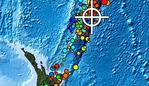 The earthquake occurred in the Kermadec Islands region at 10.55am. Picture: Pacific Tsunami Warning Center