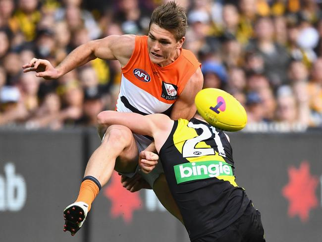 Adam Tomlinson stood out for the Giants in a prelim loss to Richmond.
