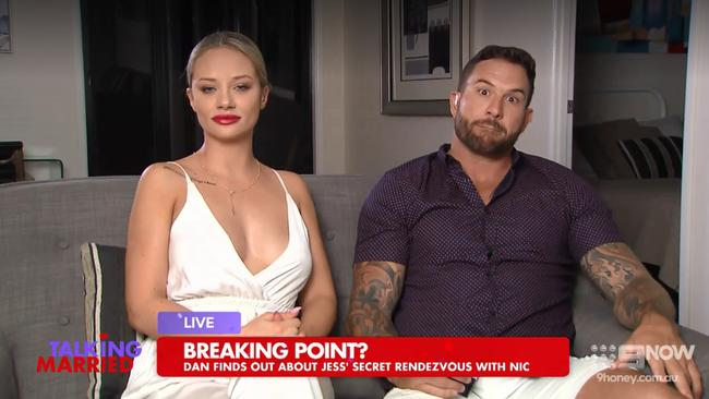Jessika and Dan had a huge spat off air just seconds before going on Talking Married.