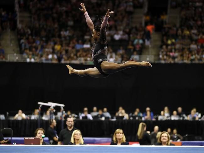 It should be called Sim-nastics. Picture: Jamie Squire/Getty Images/AFP