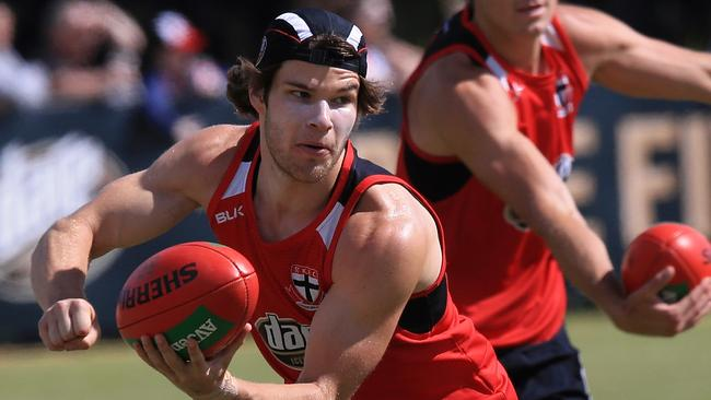 St Kilda's Nathan Freeman requires more surgery. Picture: Wayne Ludbey
