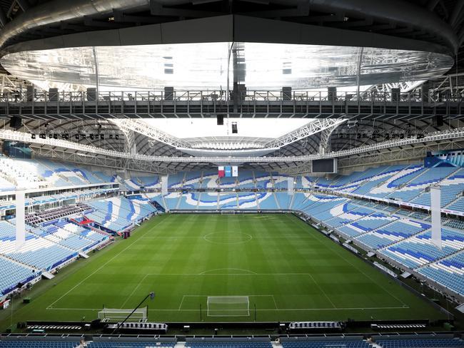 A general view of Al Wakrah Stadium in Qatar.
