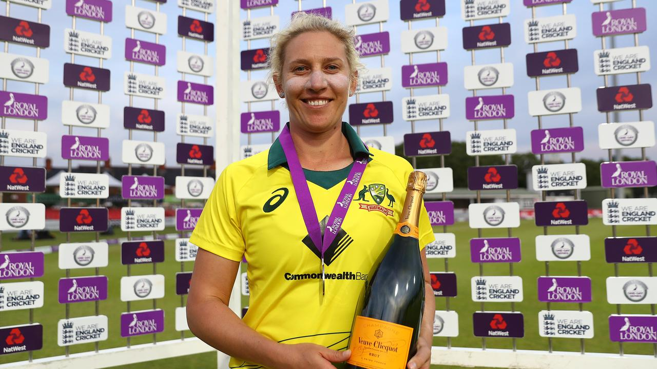 Delissa Kimmince claimed the 'Player of the Match award' after a maiden 5-wicket haul. (Photo by Matthew Lewis/Getty Images)