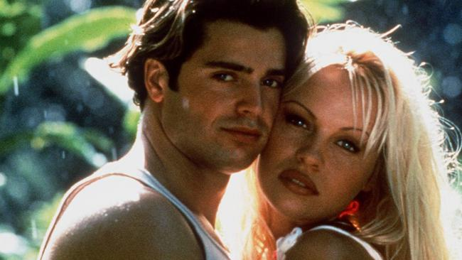 David Charvet and Pamela Anderson Lee in a scene from Baywatch. Picture: Supplied