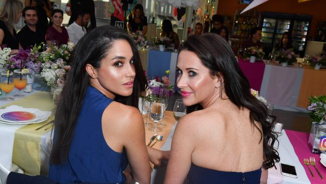Meghan Markle and best friend, Canadian stylist Jessica Mulroney. Picture: George Pimentel