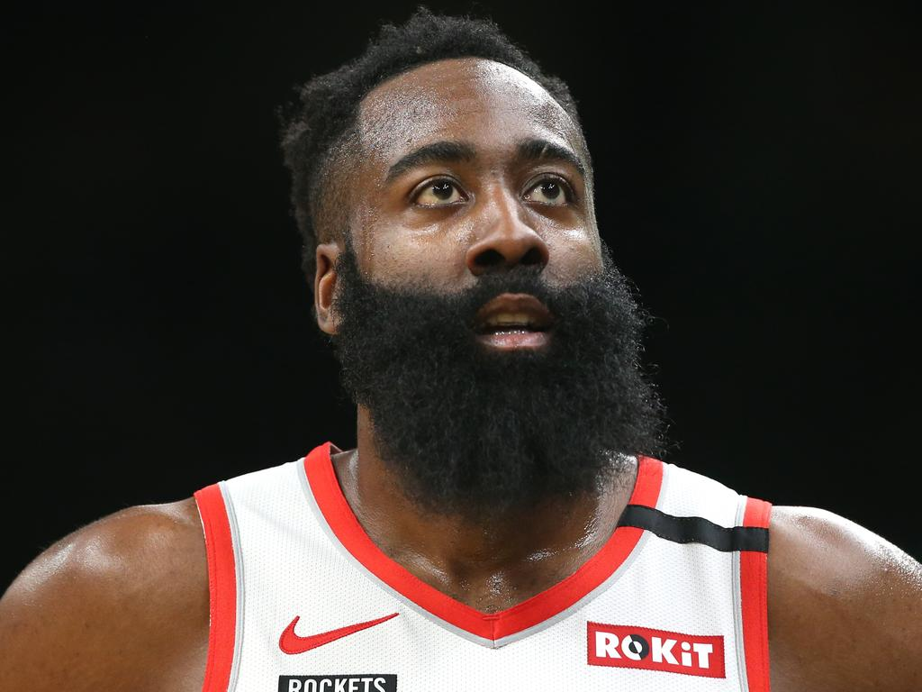 FILE - Rockets Trade James Harden To Nets Houston Rockets v Boston Celtics