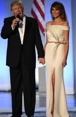 No price can be put on this custom Herve Leger gown that was created especially for her to wear to the Presidential inauguration. Picture: Robyn Beck/AFP