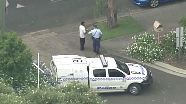 Police in Richmond where a school was locked down due to a threat. Picture: Channel 7