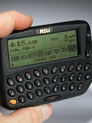 The BlackBerry 850 Wireless email pager was the first BlackBerry device, released by Research In Motion in 1999 Picture: Al Seib/LA Times via Getty Images