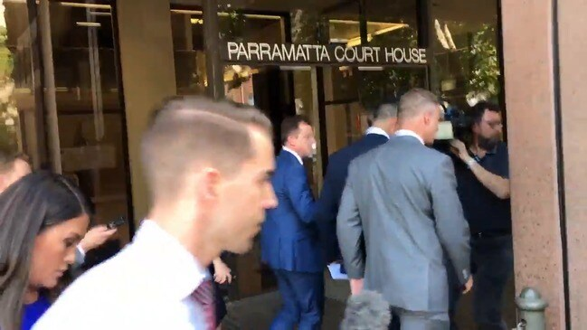 RAW: Tyrone May leaves court after sentence for sex tapes