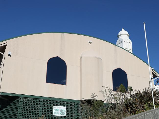 Hobart Mosque. Flowers left at the Hobart Mosque as support of the local Muslim community in relation to the Christchurch terror attack. Picture: NIKKI DAVIS-JONES