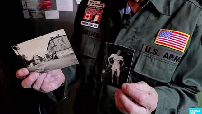Despite marrying, Robbins kept a black and white photo of his wartime sweetheart. Source: France 24