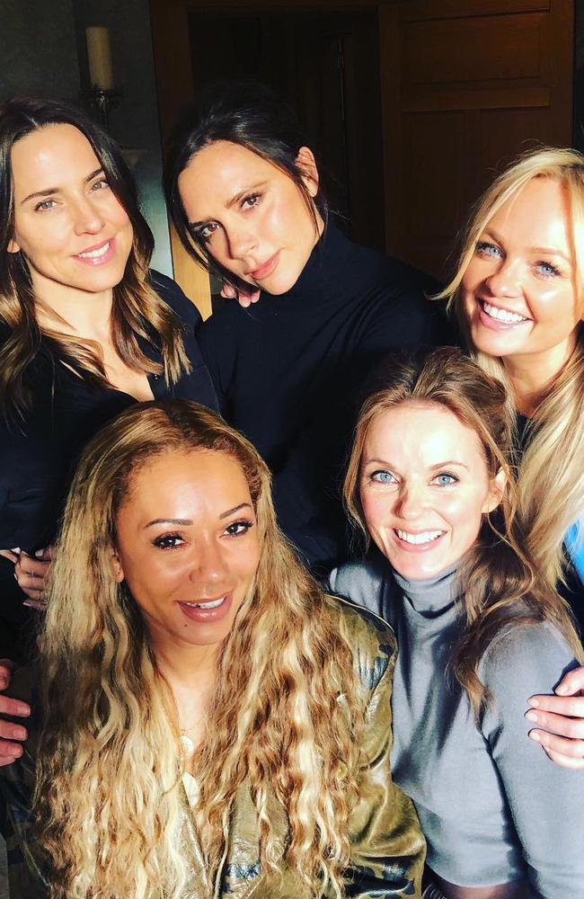 The Spice Girls reunited. Picture: Instagram @emmaleebunton