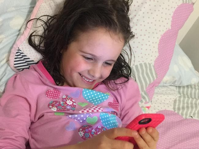 Sophie Press loves to send her family love letters from her iPod. Picture: Supplied