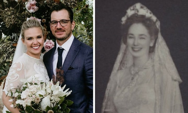 The beautiful story behind Edwina Bartholomew's wedding dress