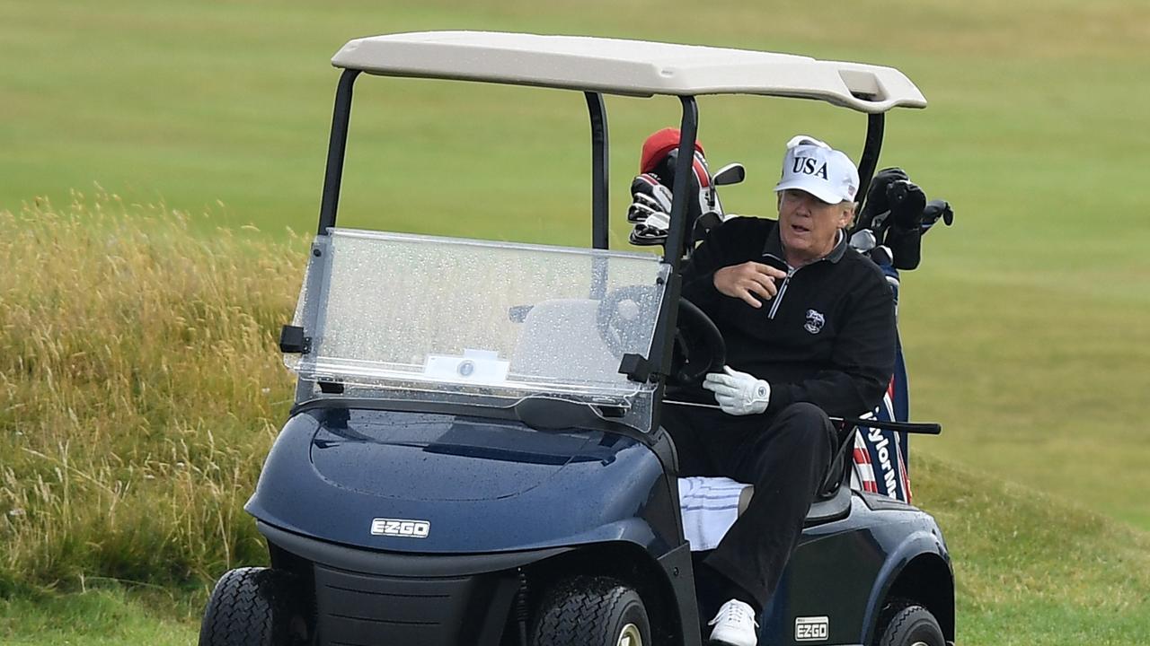 Donald Trump loves his golf.