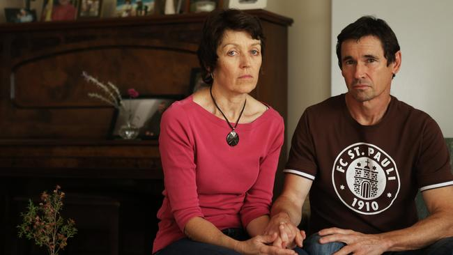Heartbroken ... Meryn and Jon O'Brien are still struggling to come to terms with the loss of their son Jack on MH17. Picture: News Corp