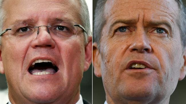 Prime Minister Scott Morrison and Opposition Leader Bill Shorten have very different plans for negative gearing. Pictures: AAP Image/Mick Tsikas/Lukas Coch