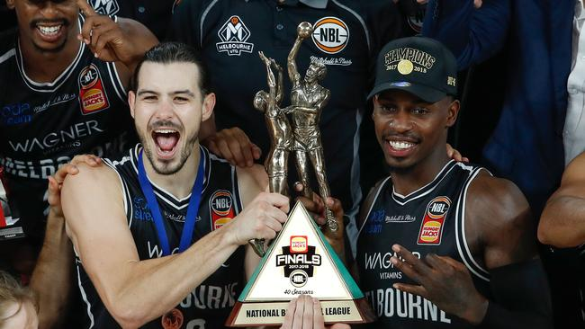 CG43 partied hard after Melbourne United's epic NBL title win. Picture: Getty Images