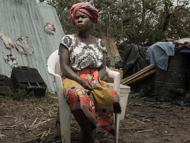 Morganda Albino, 30, fled the rising waters with her five children. Picture: Josh Estey/CARE
