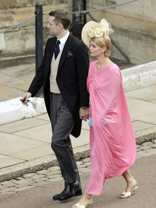 Pixie Geldof and George Barnett arrive for the wedding. Credit: Matt Crossick/Pool via AP