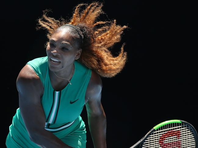 Williams in action at the Australian Open earlier this year. Pic: Michael Klein