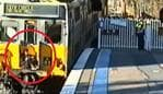 CCTV footage of people train surfing in Sydney. Picture: Sydney Trains