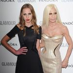 Allegra Versace and Donatella Versace attend Glamour Women of the Year Awards 2012 at Berkeley Square Gardens on May 29, 2012. Picture: Stuart Wilson/Getty Images