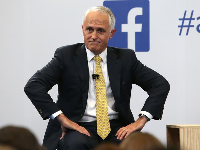 Malcolm Turnbull was outdone by Bill Shorten in the news.com.au and Facebook debate at Facebook HQ in Sydney. Picture: Kym Smith