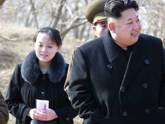 Yo -jong regularly appears by her older brother's side. Picture: Korean Central News Agency/Korea News Service/AP
