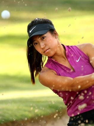 Adelaide golfer Stephanie Na at Royal Canberra Golf Club. Picture Kym Smith