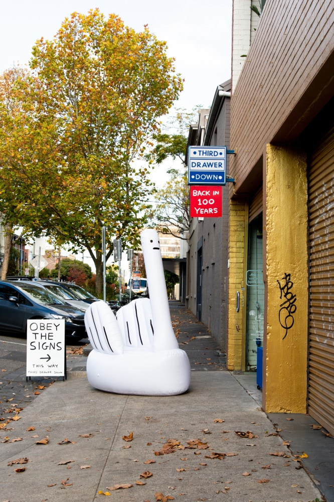 A temporary David Shrigley store has popped up in Melbourne