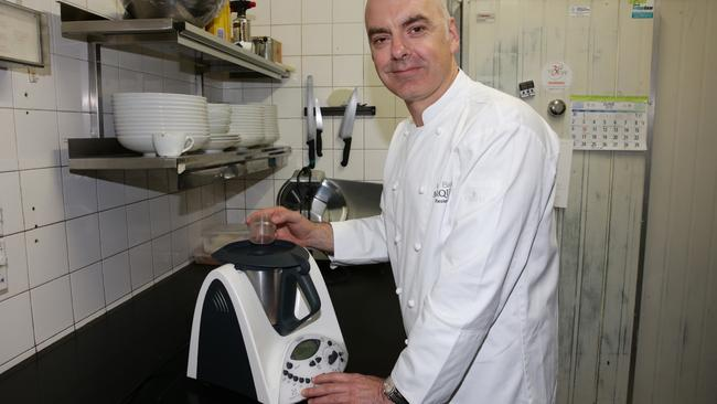 Chef Mark Best, owner of Marque Restaurant in Surry Hills, using the Thermomix machine.