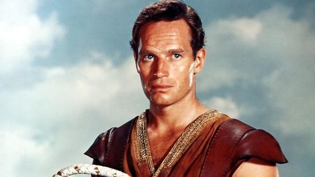 Charlton Heston in Ben Hur.