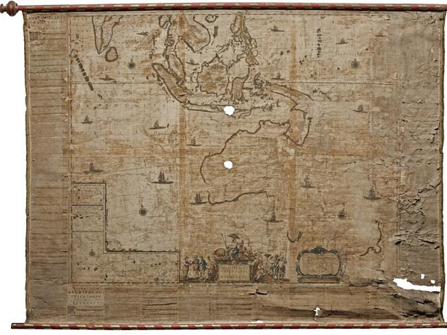 Map Of Australia 26th Parallel.Sotheby S Rare Map Of Australia Found In Italian Home Is Worth A