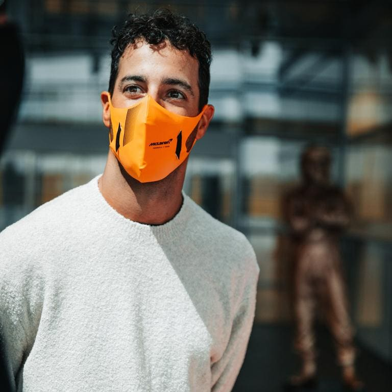 Daniel Ricciardo recently visited McLaren headquarters. Picture: McLaren