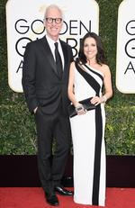 Julia Louis-Dreyfus and Brad Hall attend the 74th Annual Golden Globe Awards at The Beverly Hilton Hotel on January 8, 2017 in Beverly Hills, California. Picture: Getty