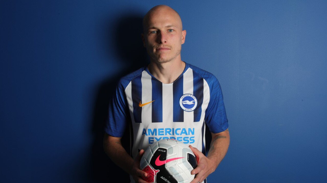 Aaron Mooy signed on deadline day in the UK.